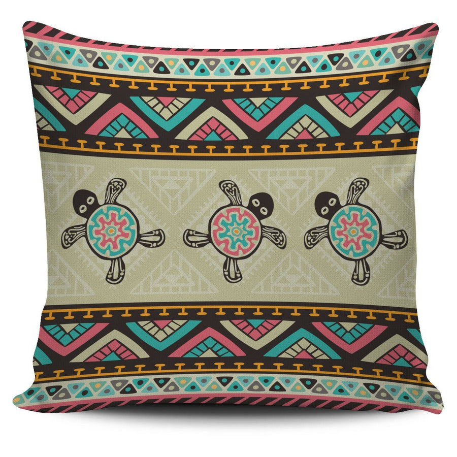 Ethnic Colorful Sea Turtle - Pillow Cover - the ocean vibe Ocean Apparel