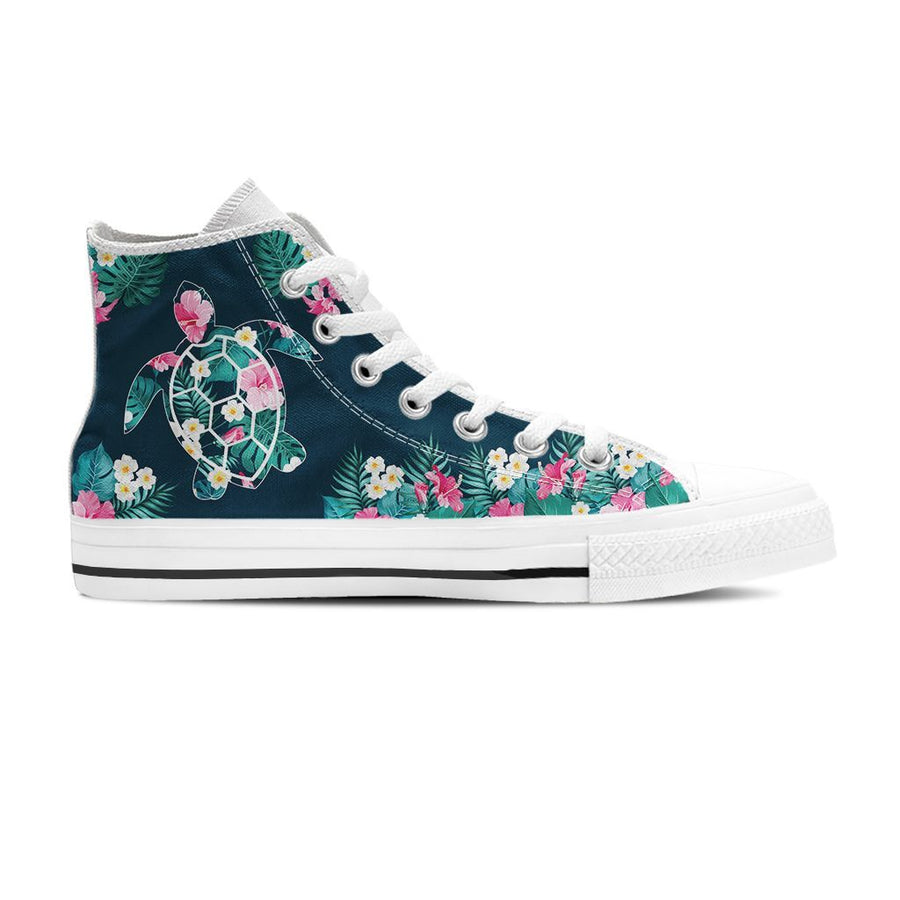 Flower Sea Turtle - Women's High Top