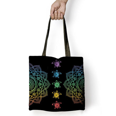 Sea Turtle Colorful Trip - Tote Bag - the ocean vibe Ocean Apparel