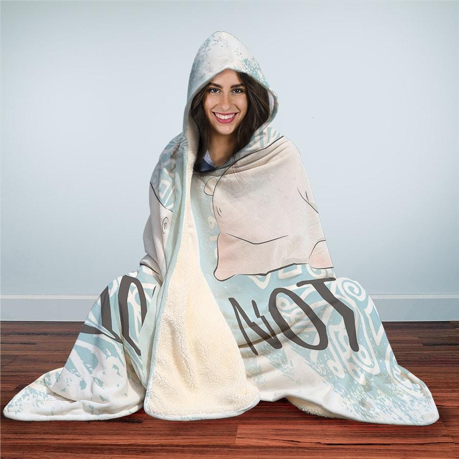 Lazy Polar Bear - Hooded Blanket
