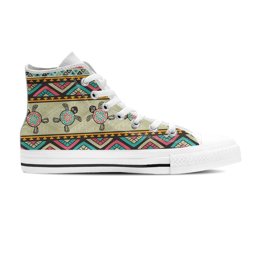 Ethnic Colorful Sea turtle - Women's High Top