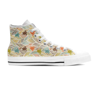 Boho Sea Turtle - Women's High Top - the ocean vibe Ocean Apparel