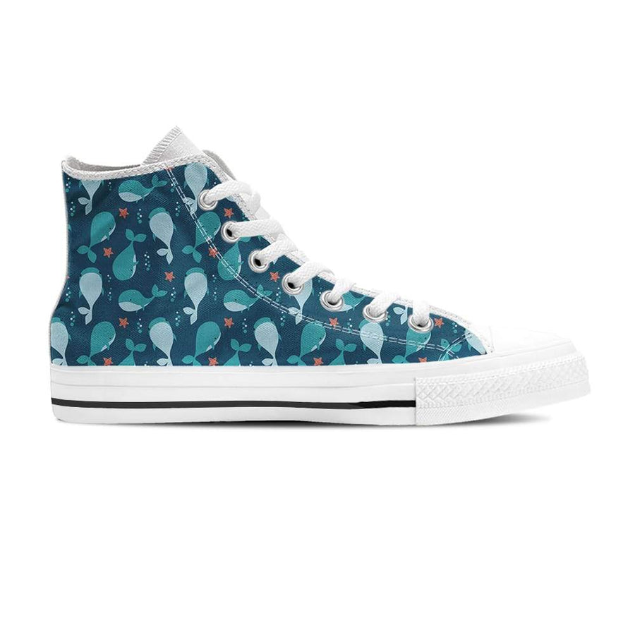 Cute Whales - Women's High Top - the ocean vibe Ocean Apparel
