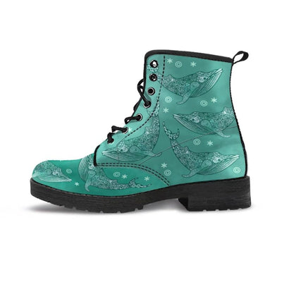 Magic Whales - Women's Boots - the ocean vibe Ocean Apparel
