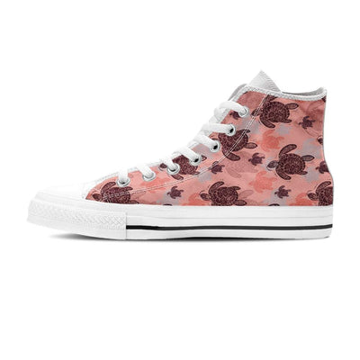 Peach Sea Turtle - Women's High Top - the ocean vibe Ocean Apparel