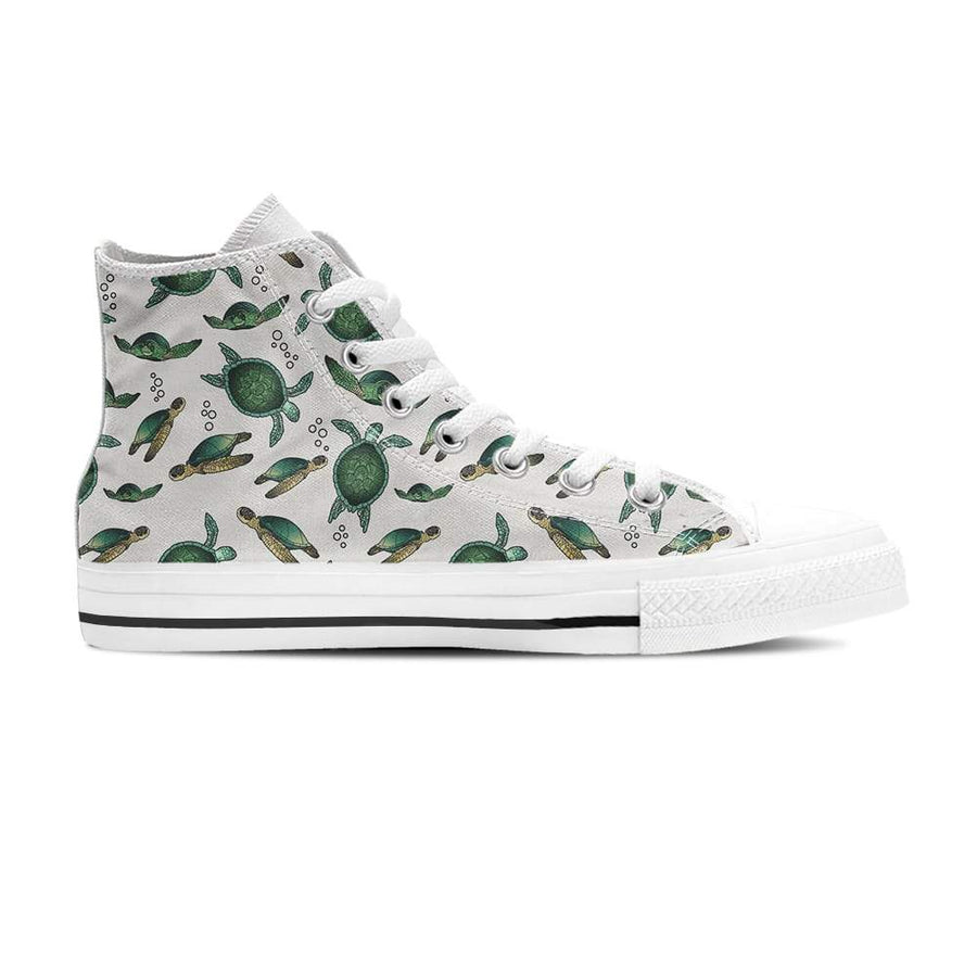 Swimming Sea Turtle - Women's High Top - the ocean vibe Ocean Apparel