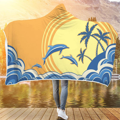Sunset Ocean - Hooded Blanket - the ocean vibe Ocean Apparel