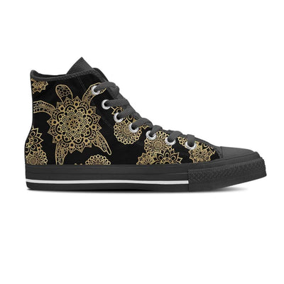 Golden Sea Turtle - Women's High Top - the ocean vibe Ocean Apparel