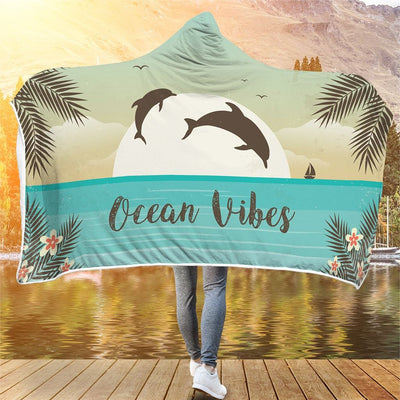 Ocean Vibes - Hooded Blanket - the ocean vibe Ocean Apparel