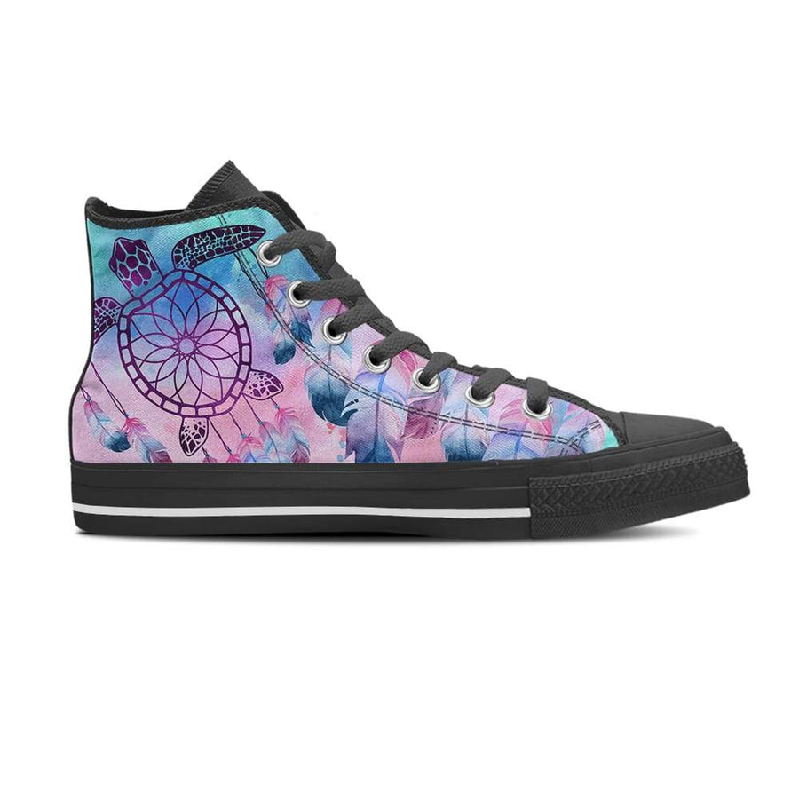 Sea Turtle Dream Catcher - Women's High Top - the ocean vibe Ocean Apparel
