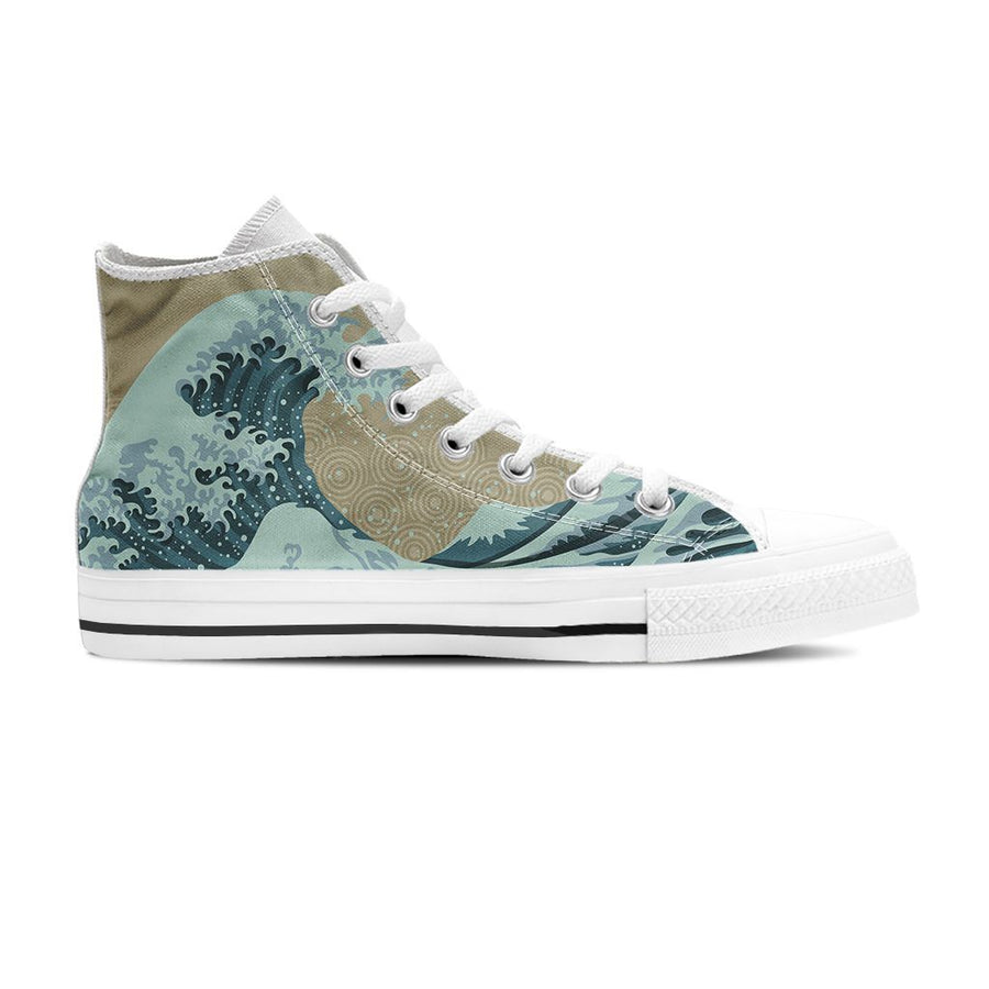 Beautiful Wave - Women's High Top - the ocean vibe Ocean Apparel