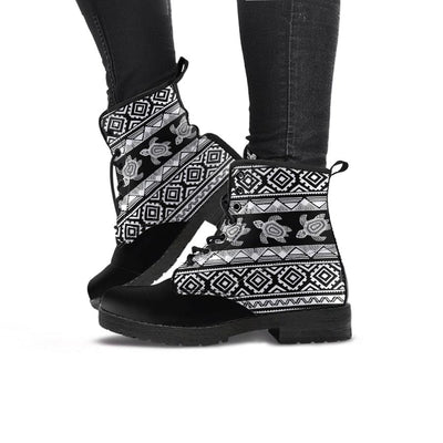 Ethnic Sea Turtle - Women's Boots - the ocean vibe Ocean Apparel
