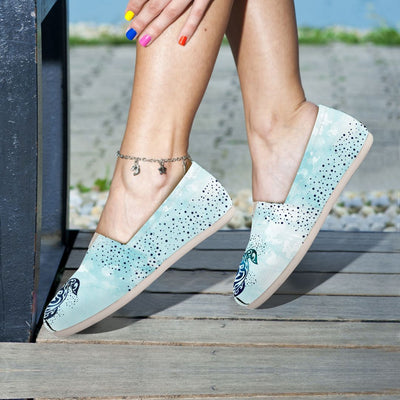 Sky Sea Turtle - Women's Casual Shoes - the ocean vibe Ocean Apparel