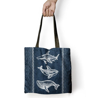 Awesome Marine Animals - Tote Bag - the ocean vibe Ocean Apparel