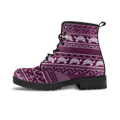 Tribal Sea Turtle - Women's Boots - the ocean vibe Ocean Apparel