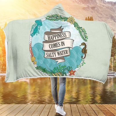 Salty Water - Hooded Blanket - the ocean vibe Ocean Apparel