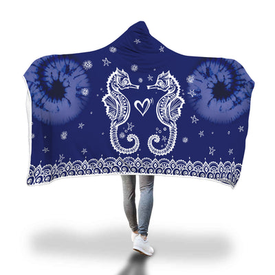 Deepest Ocean - Hooded Blanket