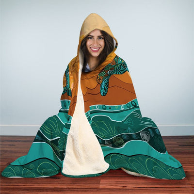 Sunny Dolphin - Hooded Blanket - the ocean vibe Ocean Apparel