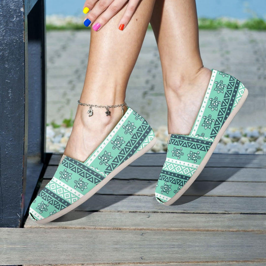 Tribal Sea Turtle - Women's Casual Shoes