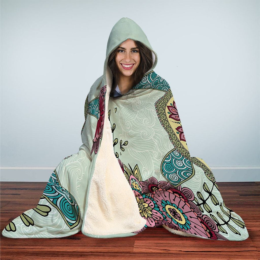 Zen Sea Turtle - Hooded Blanket - the ocean vibe Ocean Apparel