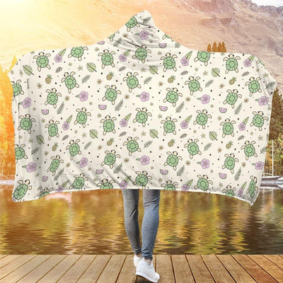 Aloha Sea Turtle - Hooded Blanket - the ocean vibe Ocean Apparel