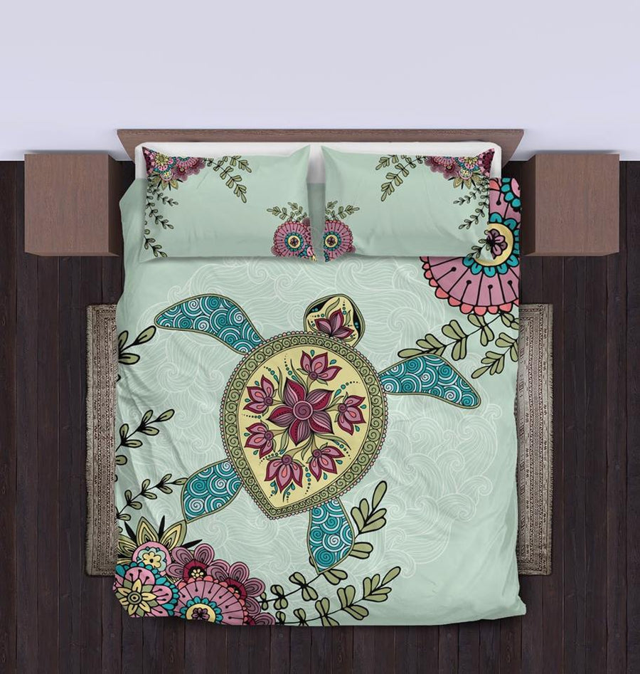 Zen Sea Turtle - Bedding Set - the ocean vibe Ocean Apparel