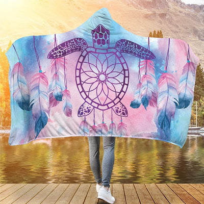 Sea Turtle Dream Catcher - Hooded Blanket - the ocean vibe Ocean Apparel