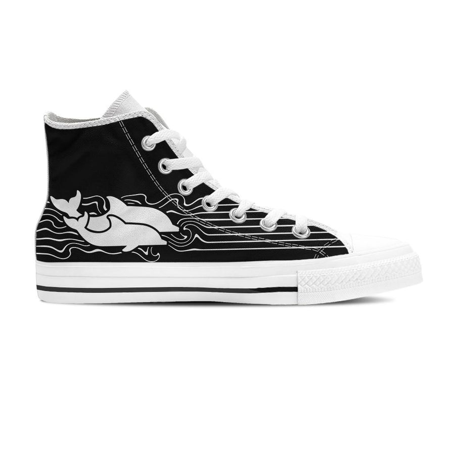 Swimming Dolphins - Women's High Top