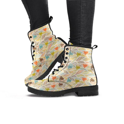 Boho Sea Turtle - Women's Boots - the ocean vibe Ocean Apparel