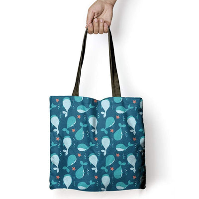 Cute Whales - Tote Bag - the ocean vibe Ocean Apparel
