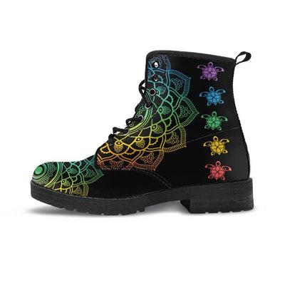 Sea Turtle Trip Colorful - Women's Boots - the ocean vibe Ocean Apparel