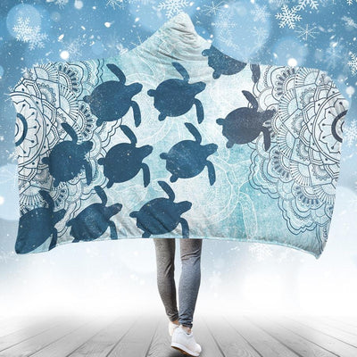 Frozen Sea Turtle - Hooded Blanket