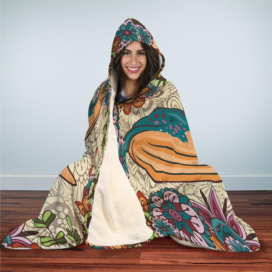 Zen Whale - Hooded Blanket - the ocean vibe Ocean Apparel
