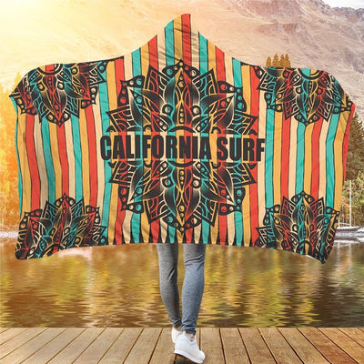 California Surf - Hooded Blanket - the ocean vibe Ocean Apparel