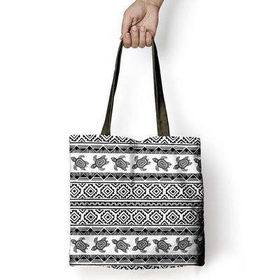 Ethnic Sea Turtle - Tote Bag - the ocean vibe Ocean Apparel