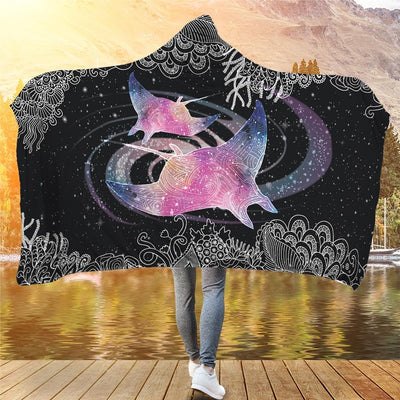Galaxy Manta - Hooded Blanket - the ocean vibe Ocean Apparel