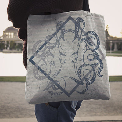Blue Octopus - Tote Bag - the ocean vibe Ocean Apparel