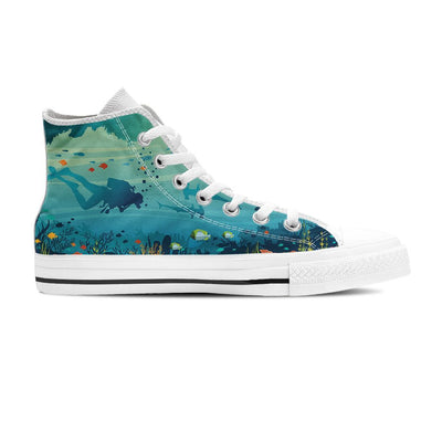 Underwater - Women's High Top - the ocean vibe Ocean Apparel