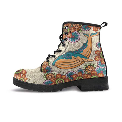 Zen Whale - Women's Boots - the ocean vibe Ocean Apparel