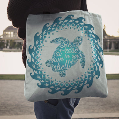 Own Shell Sea Turtle - Tote Bag - the ocean vibe Ocean Apparel