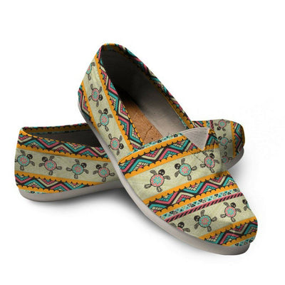 Ethnic Colorful Sea Turtle - Women's Casual Shoes - the ocean vibe Ocean Apparel