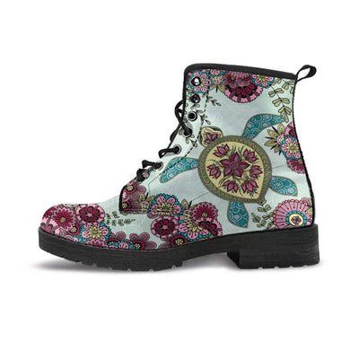 Zen Sea Turtle - Women's Boots - the ocean vibe Ocean Apparel