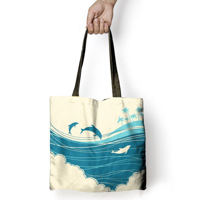 Blue Ocean - Tote Bag - the ocean vibe Ocean Apparel