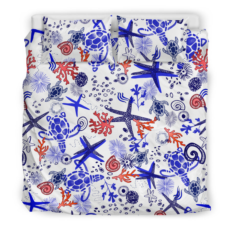 Sea Turtles by the Marina - Bedding Set
