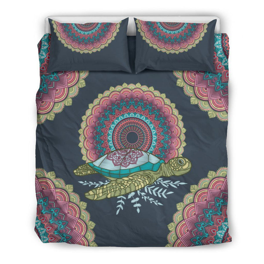 Mandala Sea Turtle - Bedding Set - the ocean vibe Ocean Apparel