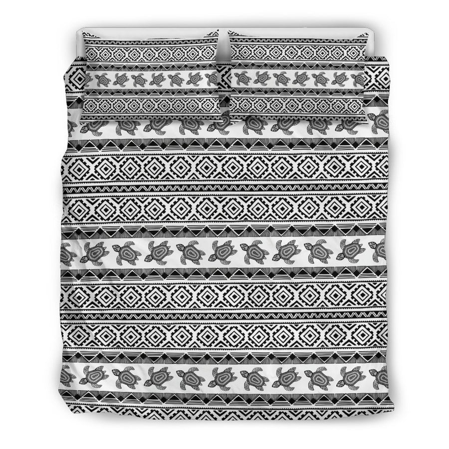 Ethnic Sea Turtle - Bedding Set - the ocean vibe Ocean Apparel
