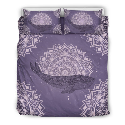 Mandala Whale - Bedding Set - the ocean vibe Ocean Apparel