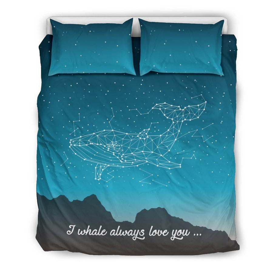 Stars Whale - Bedding Set - the ocean vibe Ocean Apparel