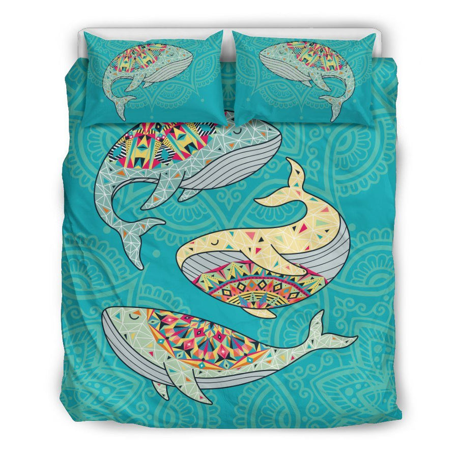 Dancing Whales - Bedding Set - the ocean vibe Ocean Apparel