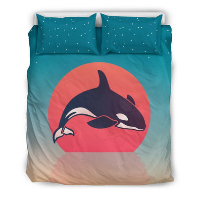 Orca Sunset - Bedding Set - the ocean vibe Ocean Apparel